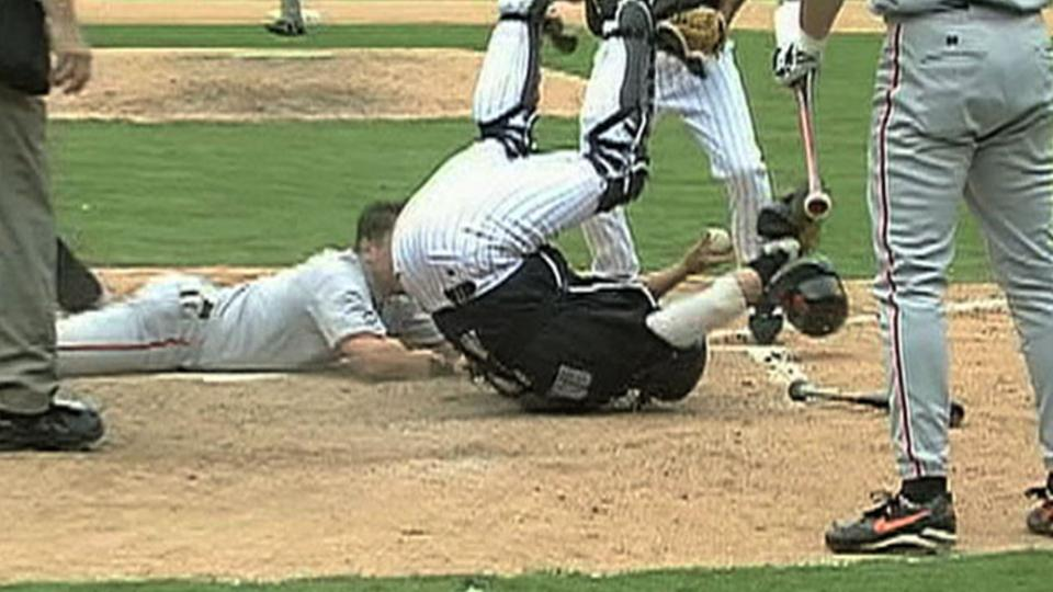 Pudge's play at the plate