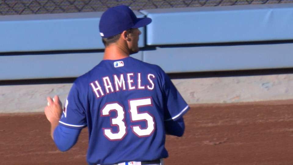 Hamels K's 6 vs. the Dodgers