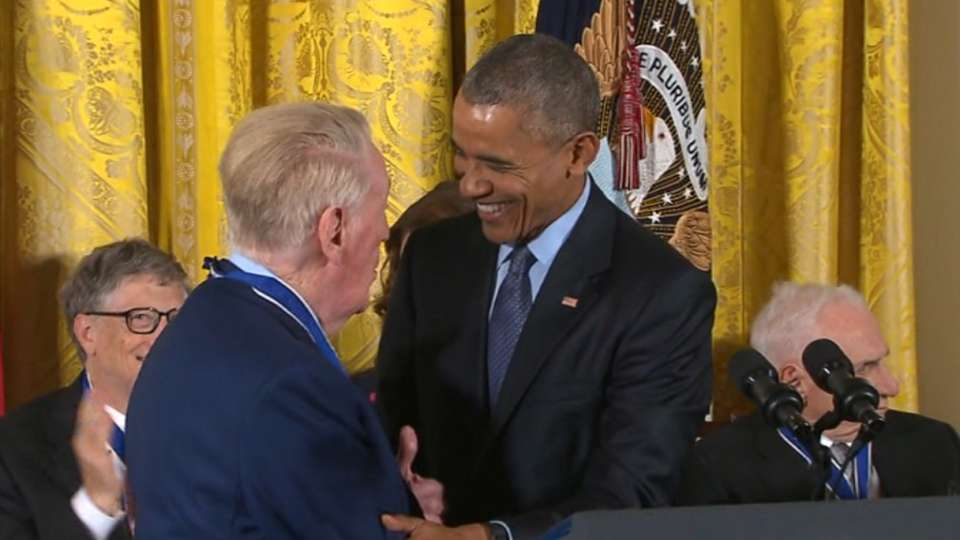 Scully honored at White House