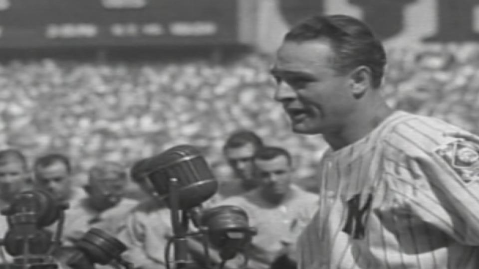 Gehrig's iconic speech