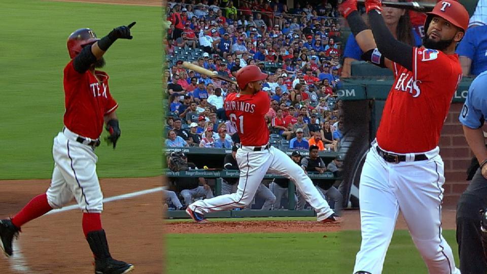 Texas estalla en el 2do inning