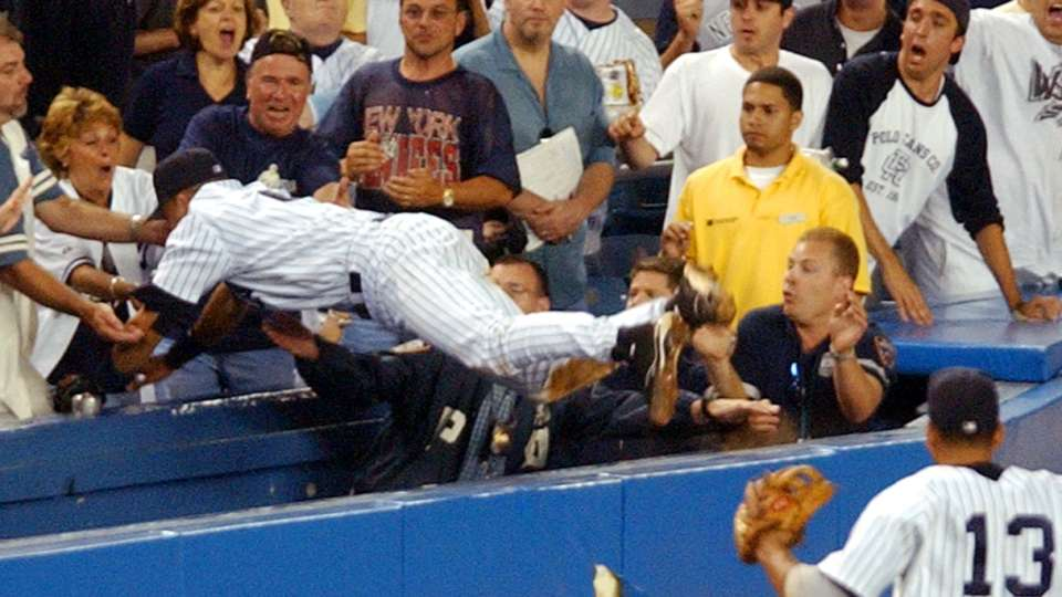 Jeter dives into the stands