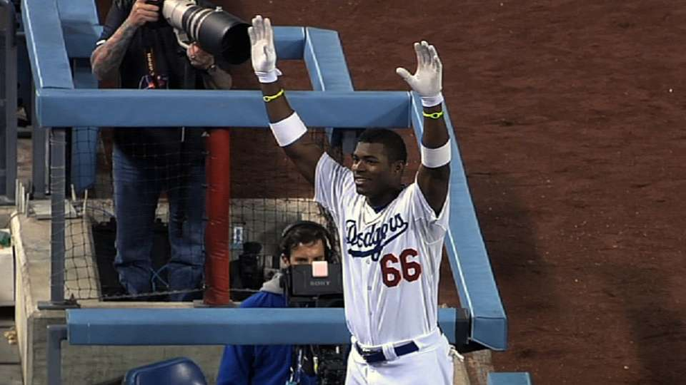 Puig's electrifying debut month