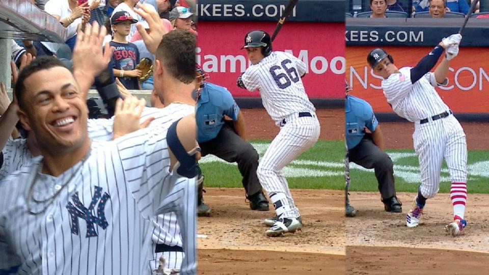 Trueno de Yankees contra Bravos