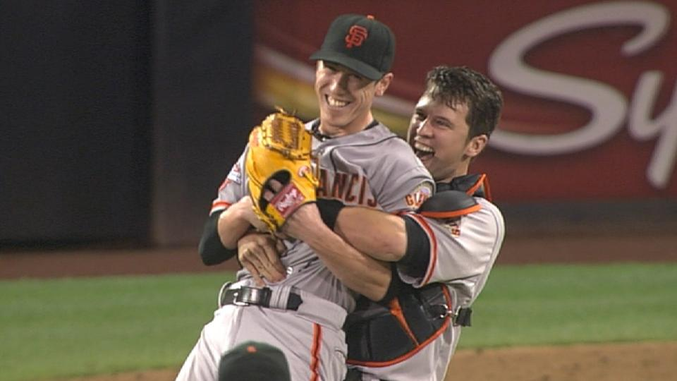 Lincecum closes out no-hitter
