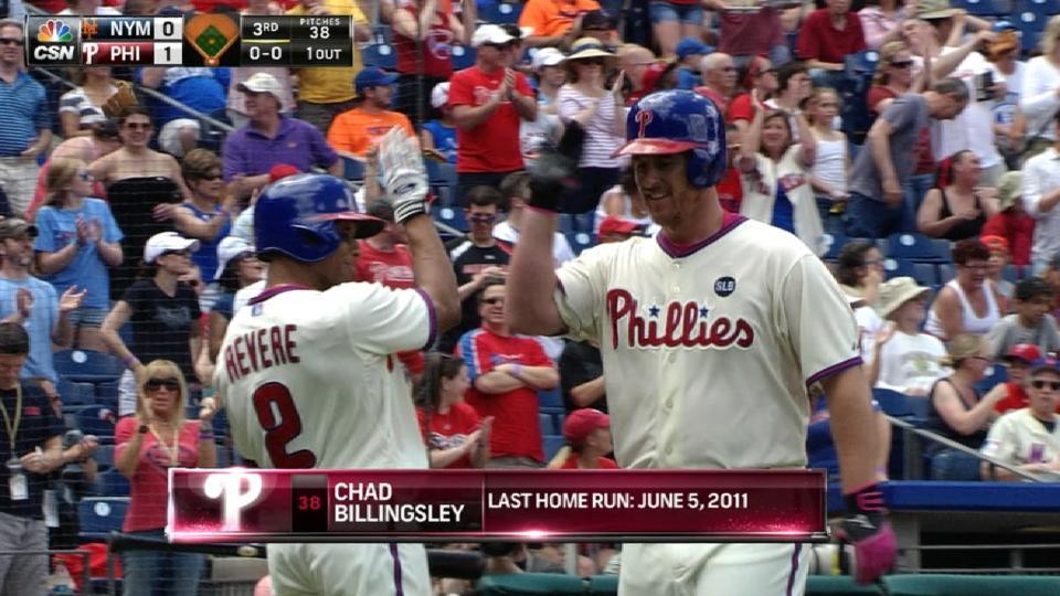 Billingsley's solo homer