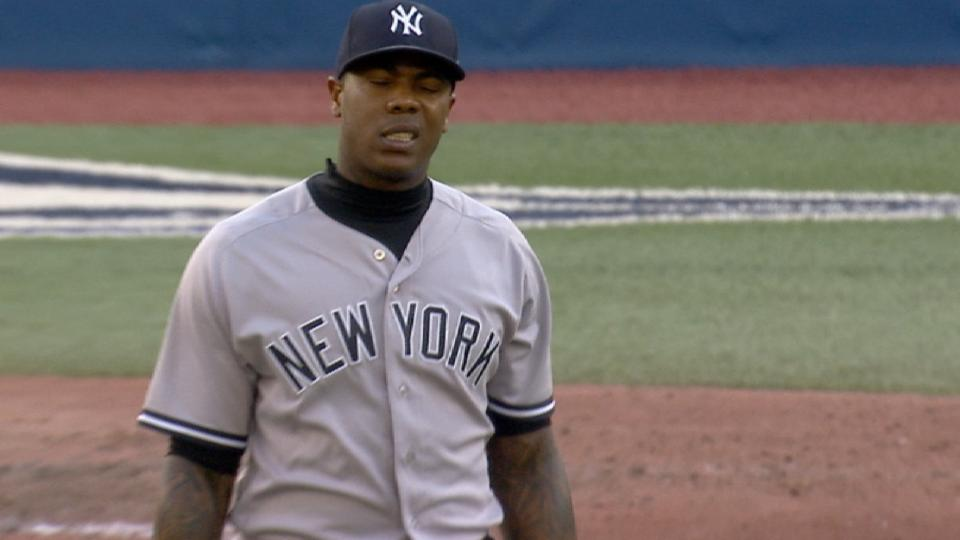 Chapman leaves with injury