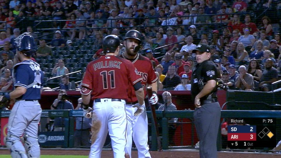 Pollock ejected after strikeout