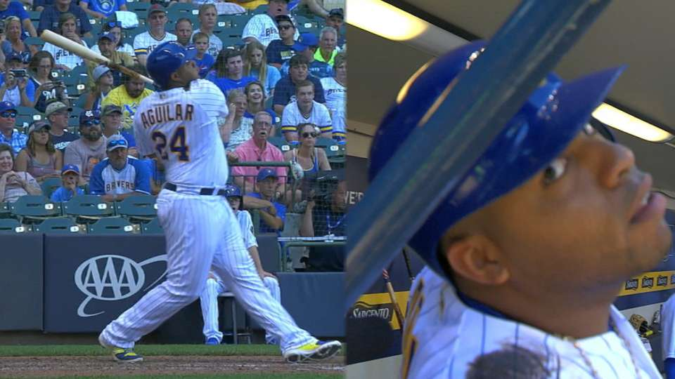 Aguilar's 2-homer game