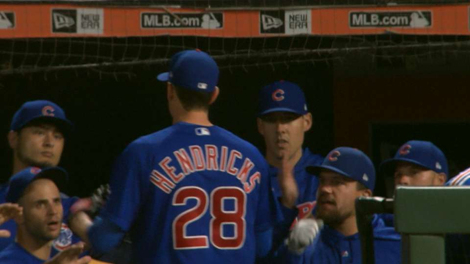 Hendricks' 8-strikeout start