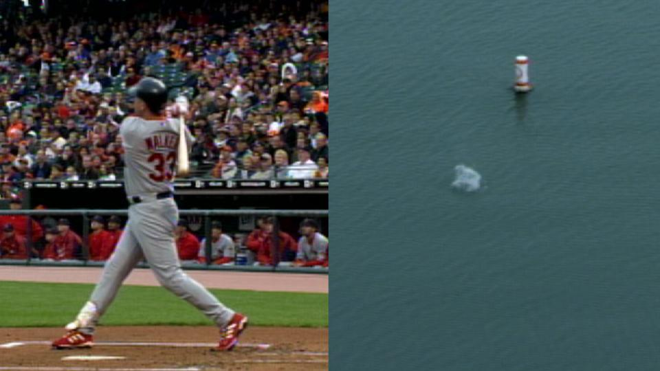 Walker's blast to McCovey Cove