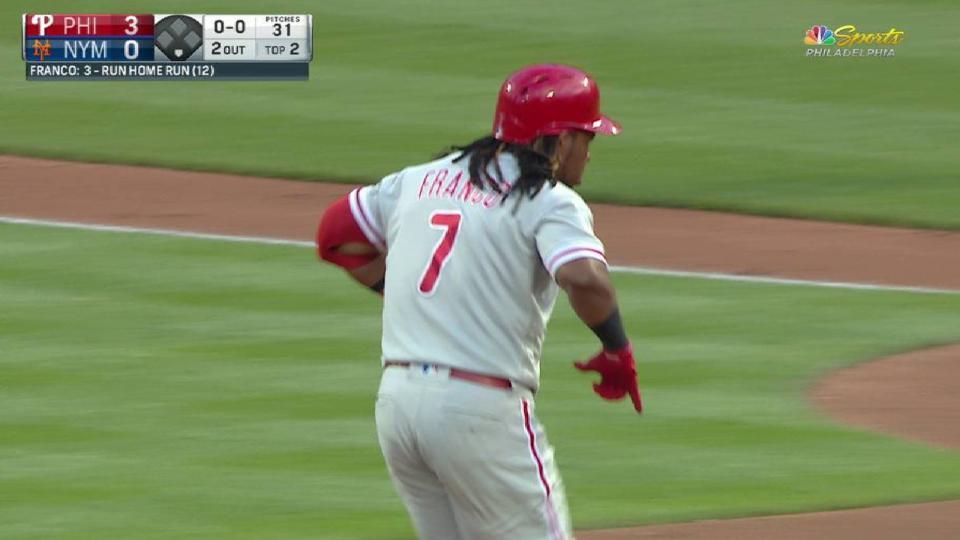 Franco's 3-run home run
