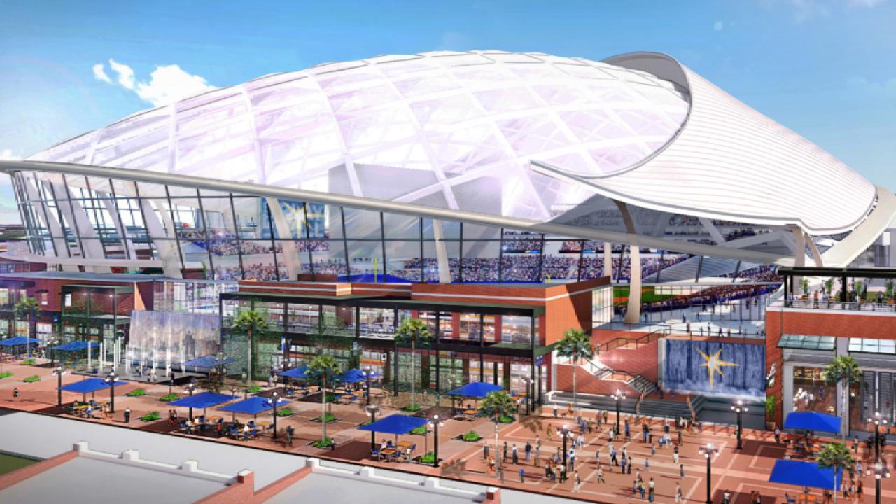 rays release renderings of new ballpark mlb com