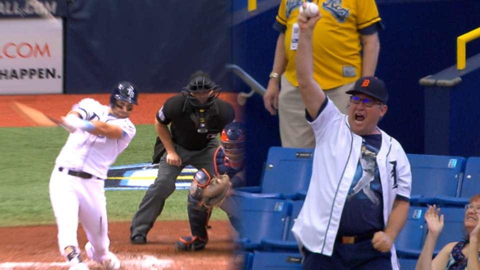 Tigers fan enjoys Kiermaier's HR