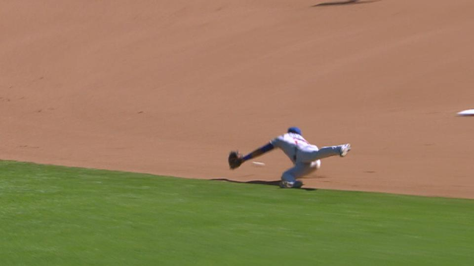 Russell's diving stop in 11th