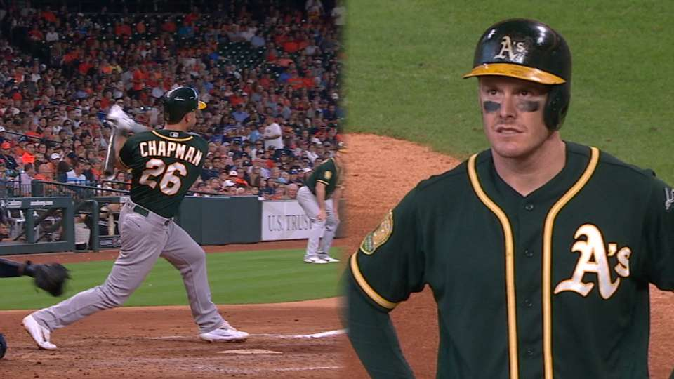 A's take the lead with 3-run 8th