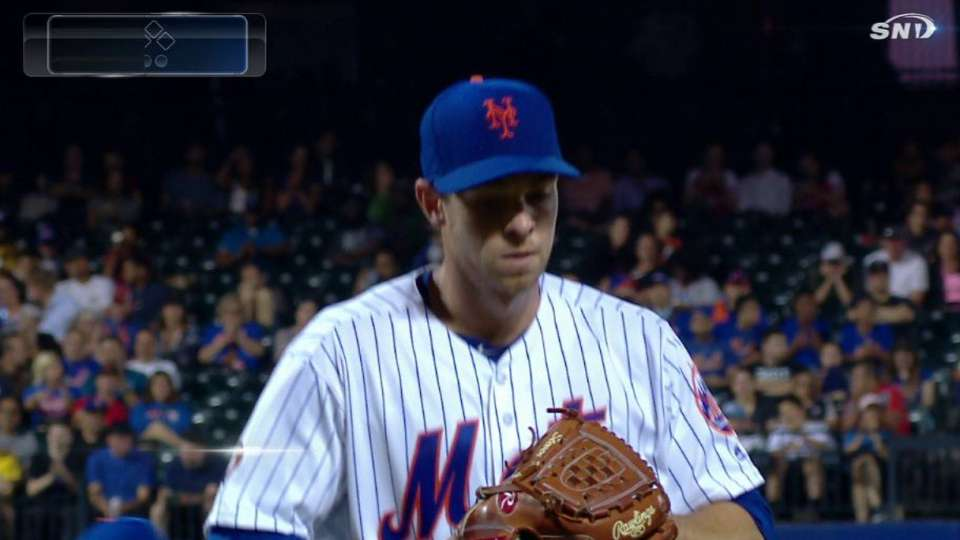 Matz leaves the bases loaded