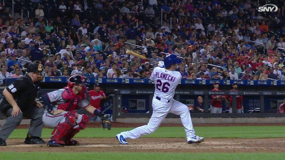 Plawecki's solo home run