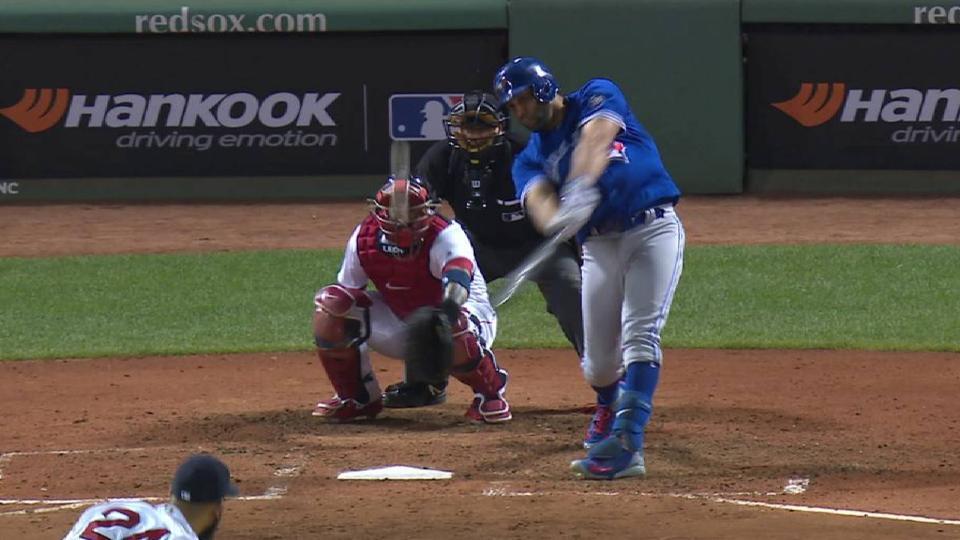 Morales' solo home run
