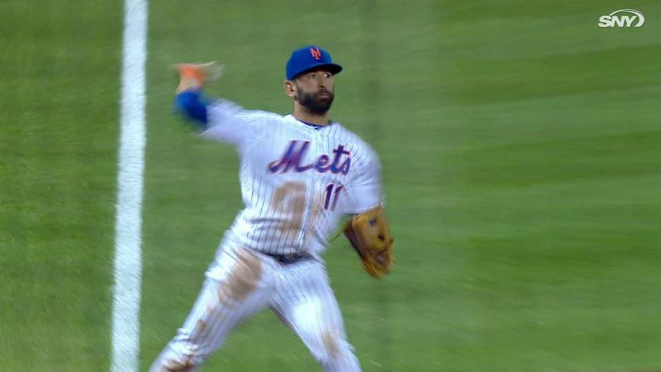 Bautista's backhanded stop
