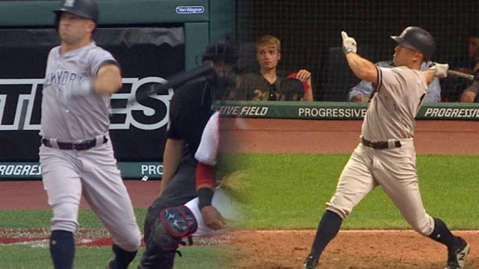 Gardner's 2-homer game vs. Tribe