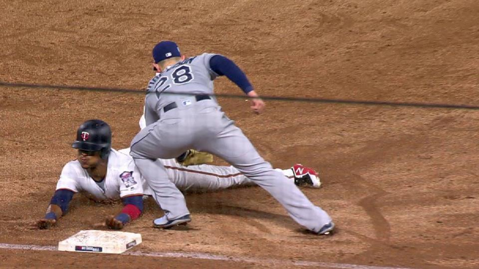 Polanco's steal of third