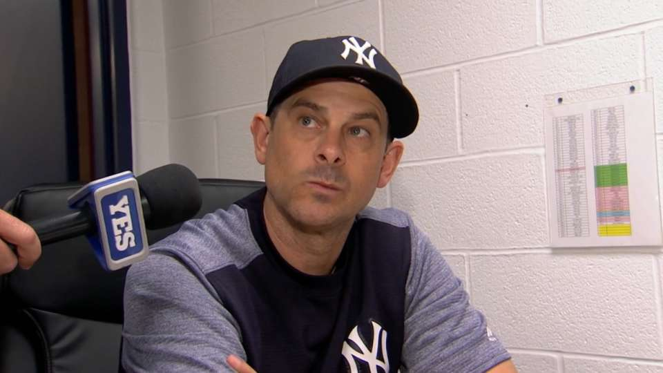 Boone talks Gardner's 2 homers