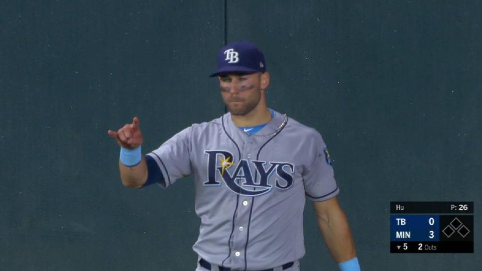 Kiermaier's leaping grab at wall