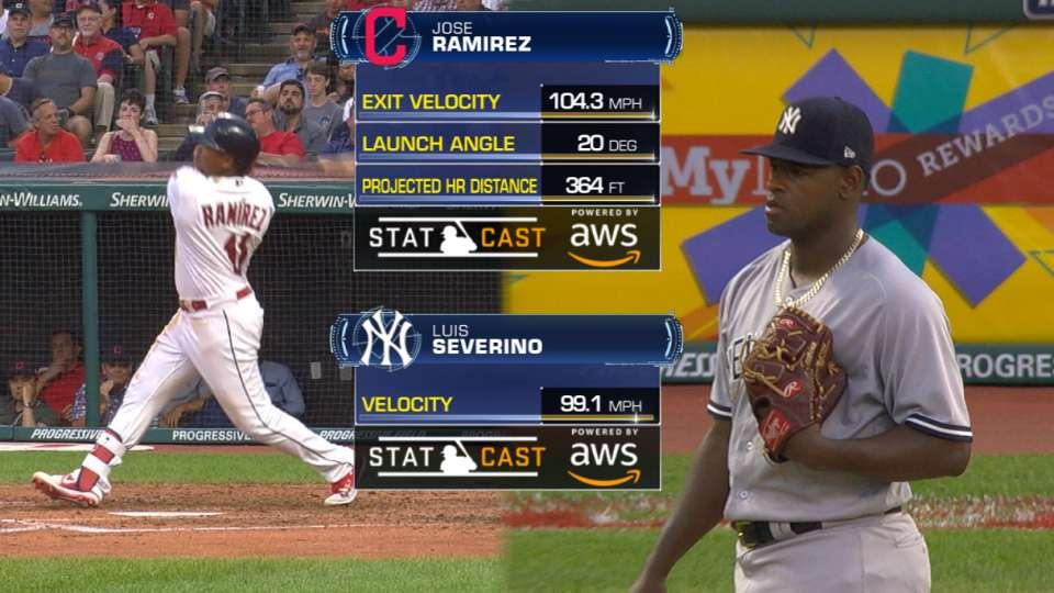 Statcast: Ramirez's 104.3-mph HR