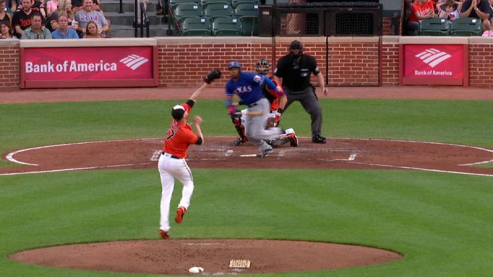 Cobb starts a double play