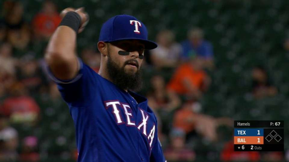 Odor's strong leaping throw