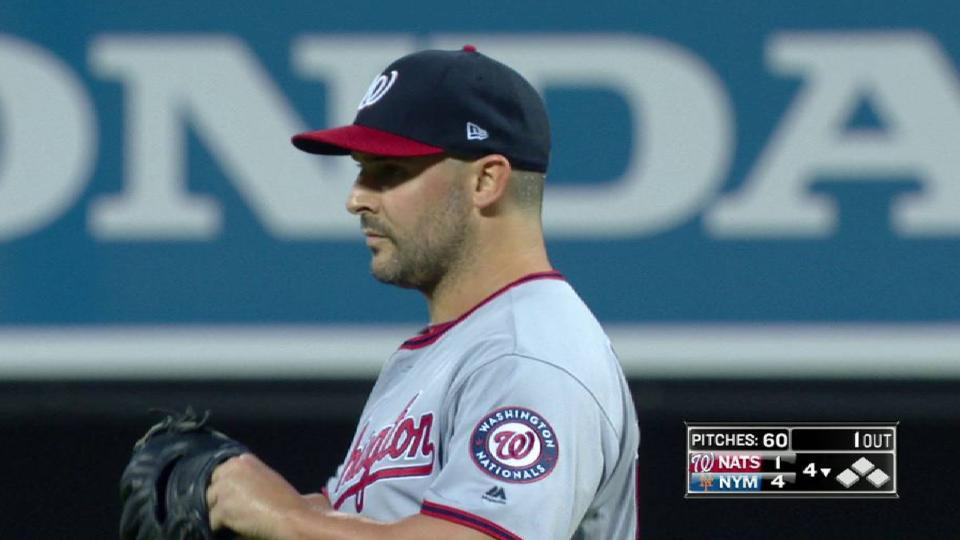 Roark collects his 5th strikeout