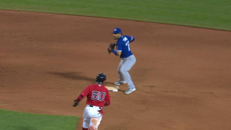 Petricka induces a double play