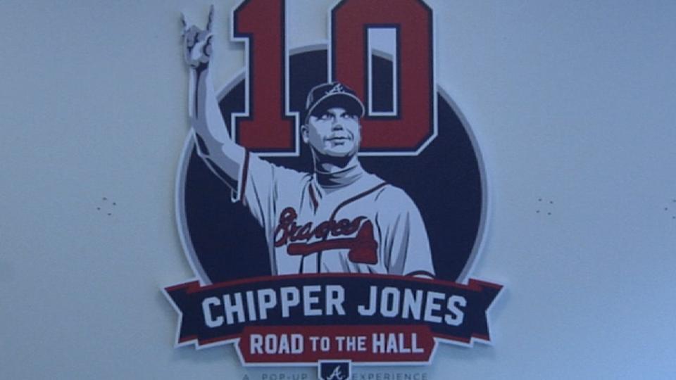 Braves honor Jones with exhibit