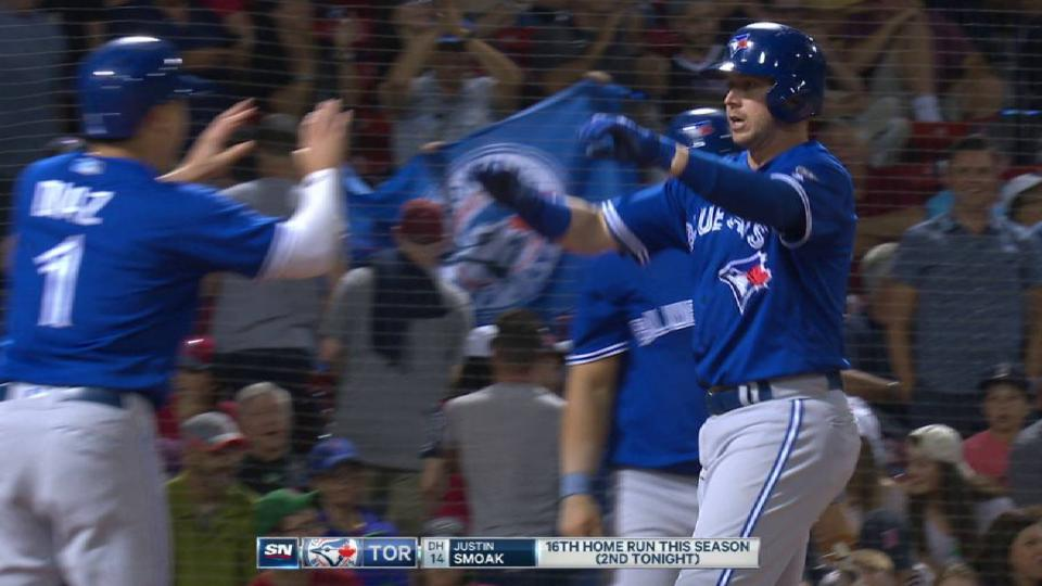 Smoak's 2nd homer of the game