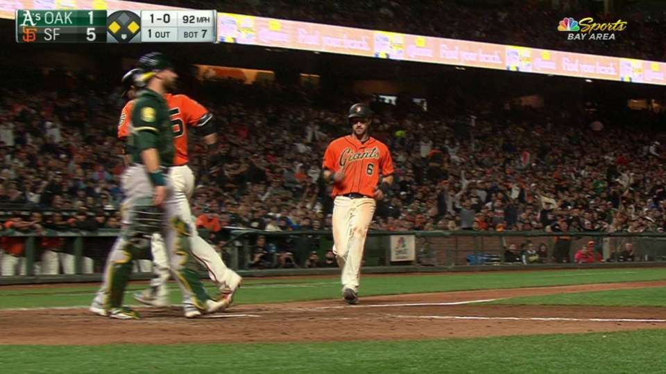 Duggar scores on a wild pitch