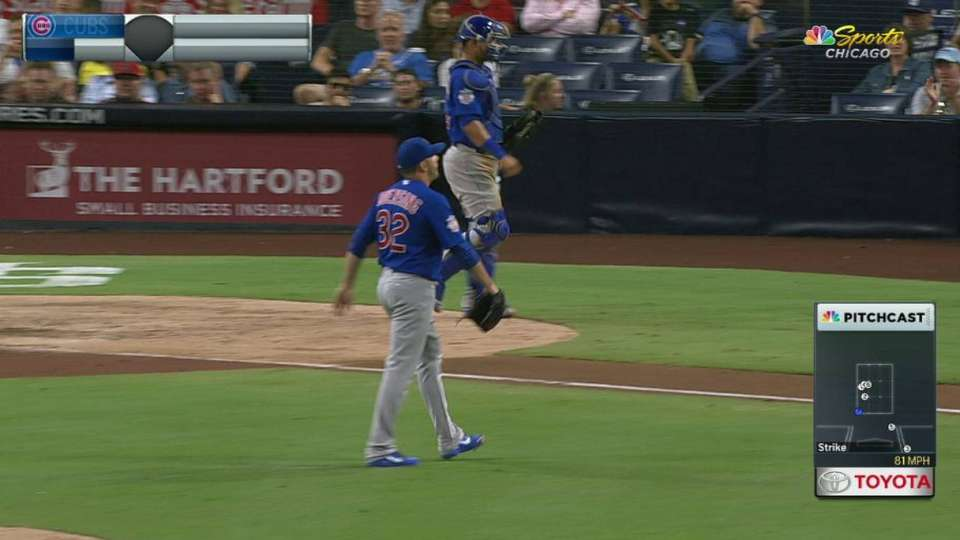 Duensing escapes jam in the 8th