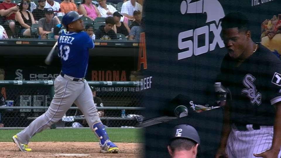 Perez's 2-run homer to right