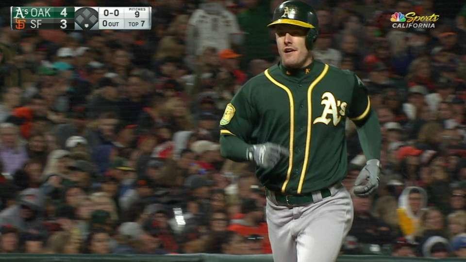 Canha's mammoth pinch-hit homer