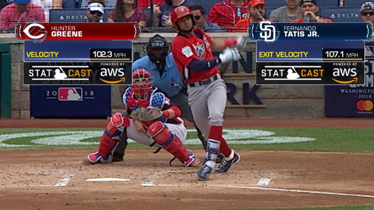 Statcast: Tatis Jr.'s laser hit