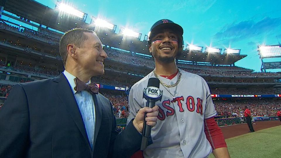 Betts talks on way to plate