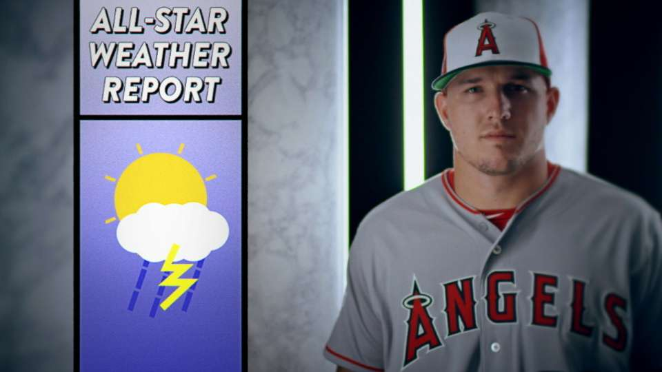 Trout plays a weatherman