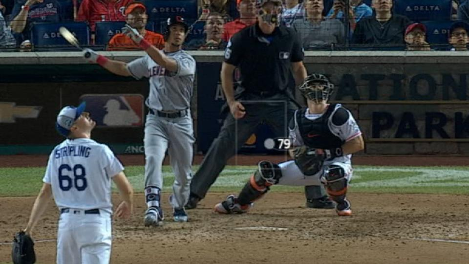 Brantley's sacrifice fly in 10th