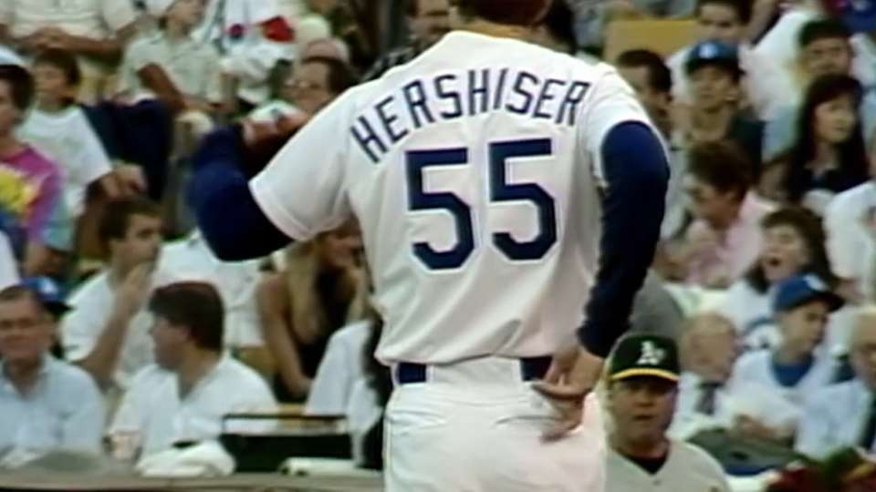 Hershiser's cheat sheet in 1988