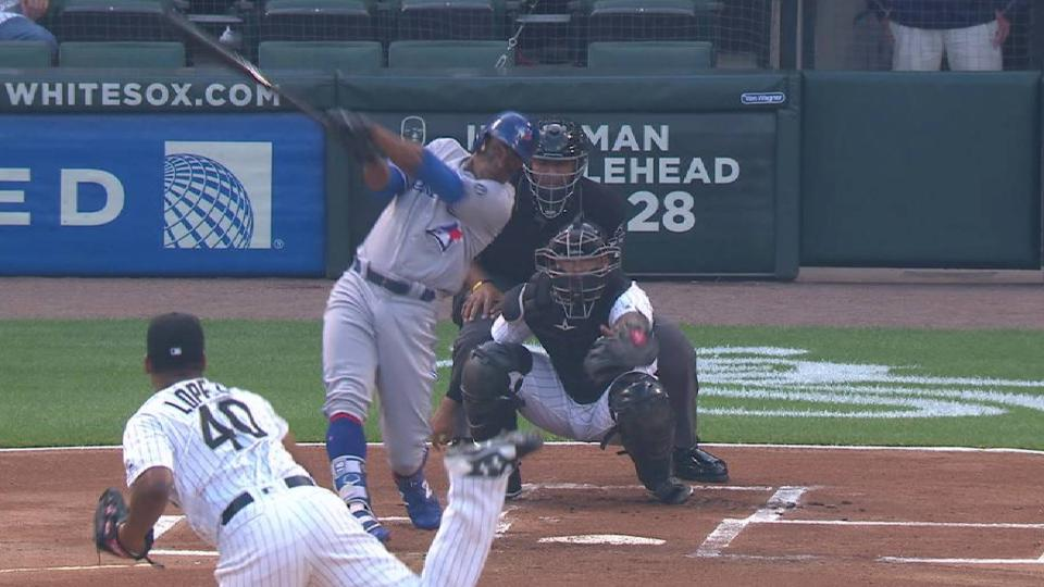 Granderson's leadoff home run