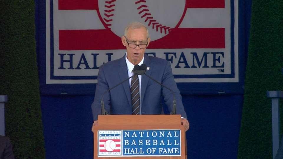 Trammell's Hall of Fame speech