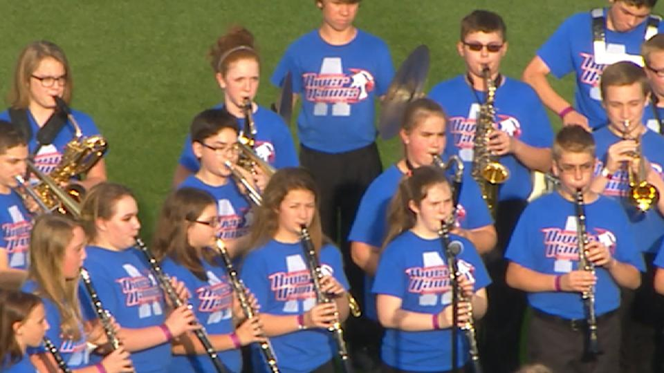 Armstrong Jr High Band performs