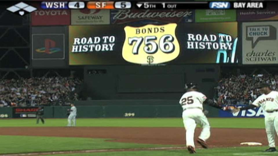 Bonds' 756th career homer