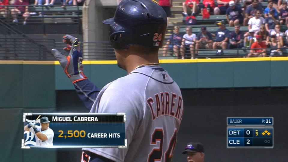 Miggy's 2,500th hit