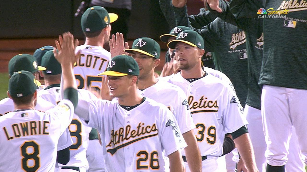Mike Fiers debuts strong as A s beat Dodgers  52a0301d0